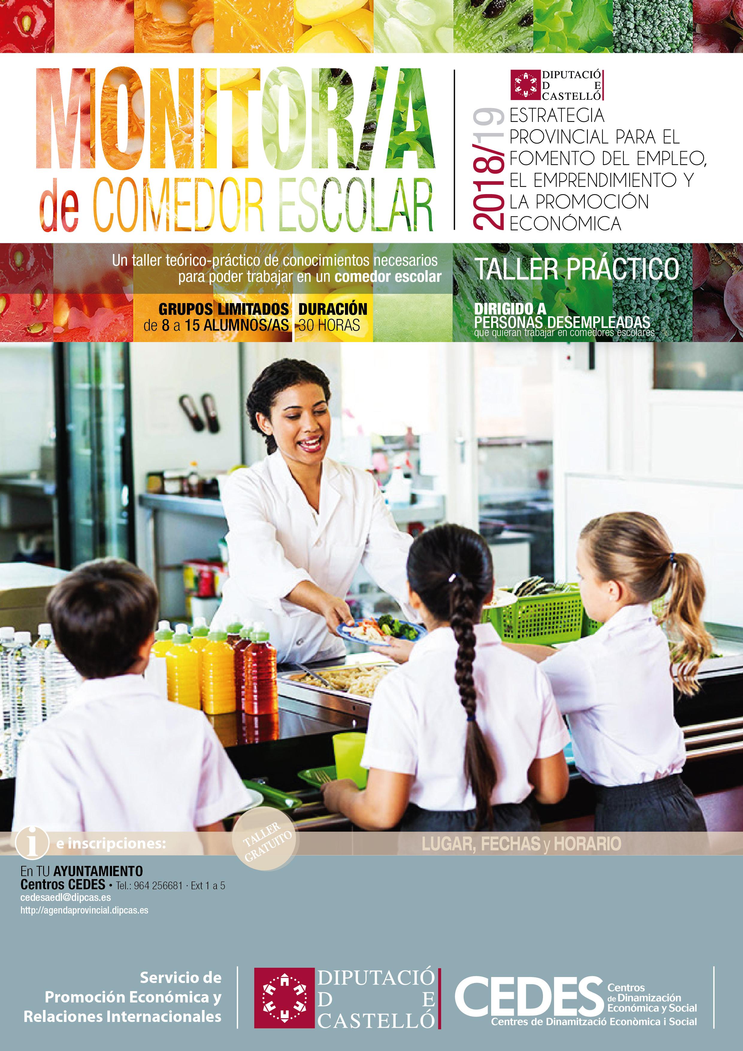 Cursos Diputaci N 2019 Monitor A De Comedores Empleo La