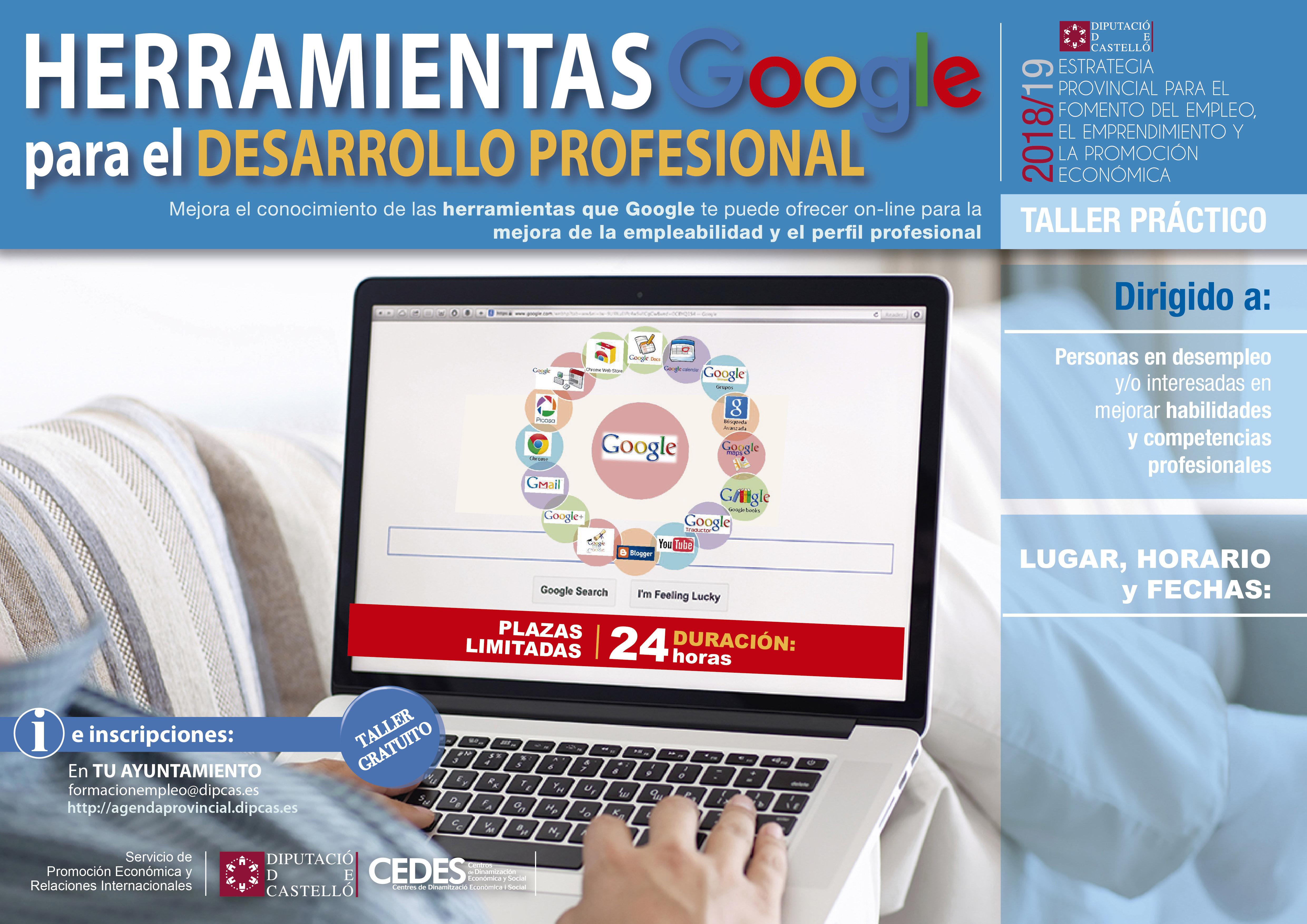 Cursos Diputacion 2019 Herramientas De Google Autonomos Comercios Pymes Y Empleo La Vall D Uixo